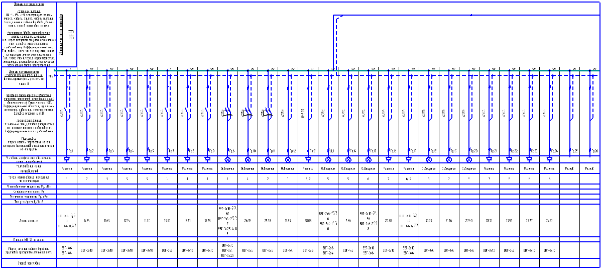 однолинейные расчетные схемы